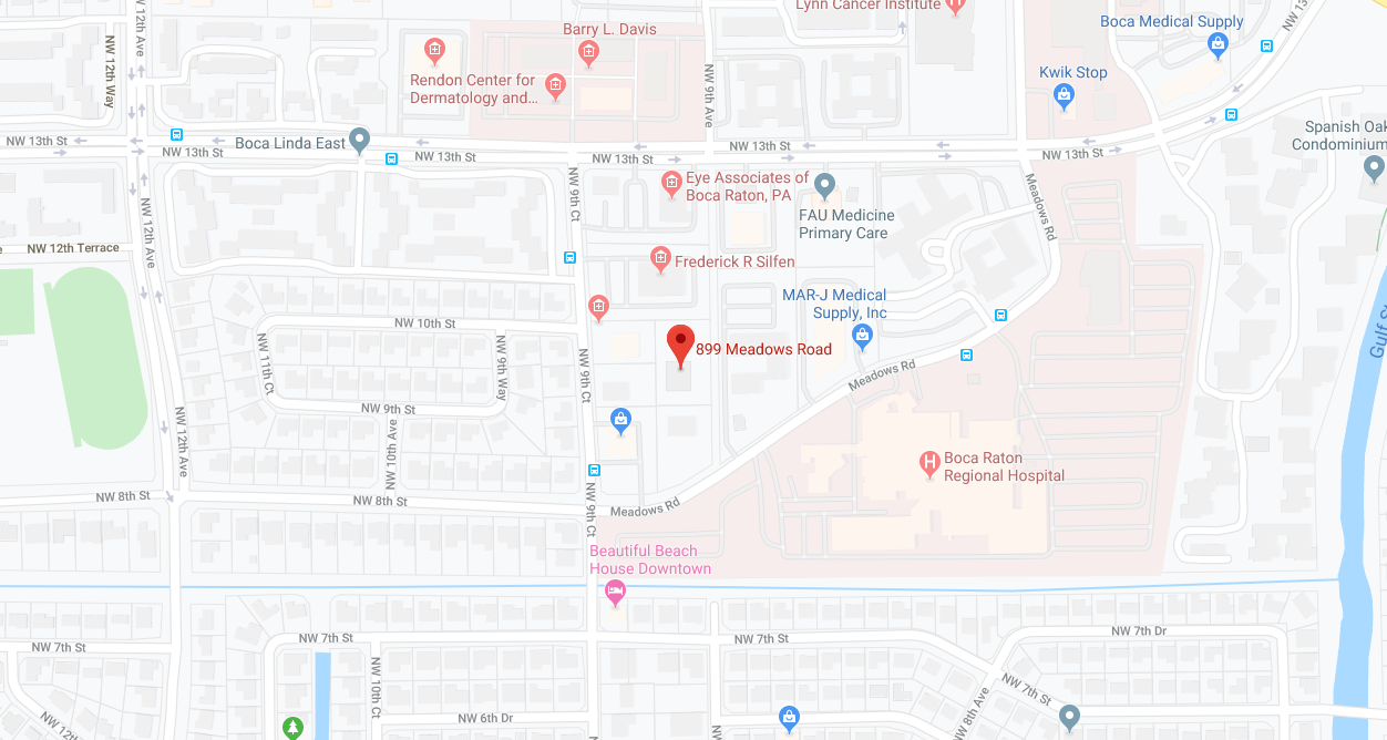 Aesthetic Plastic Surgery Boca Raton, Florida Map Location